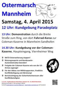 Ostermarsch-Plakat 2015