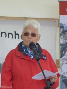 Elke Kammigan-Bentzinger beim Ostermarsch 2016, Foto: Guerrero1963/Beobachternews